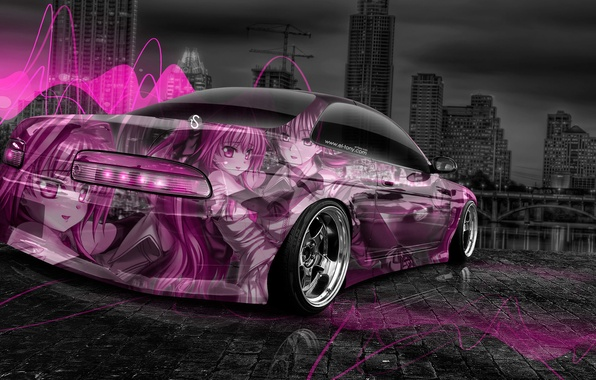 Picture Design, Pink, Neon, Wallpaper, Pink, City, Anime, Toyota, Anime, Photoshop, Photoshop, Design, Neon, Anime, Toyota, …