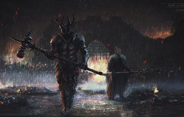 Picture weapons, rain, darkness, the darkness, art, grille, Armor