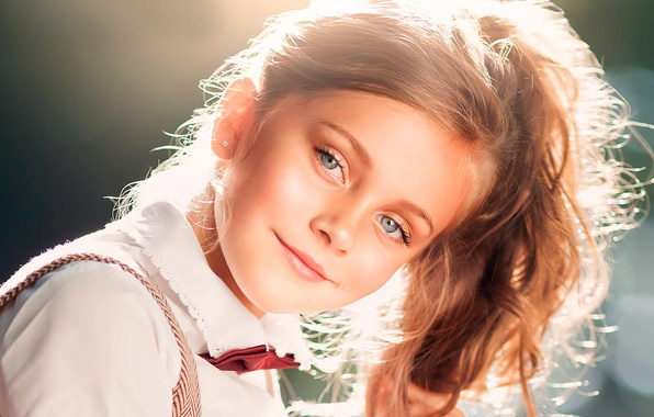 Picture smile, portrait, girl, sunlight
