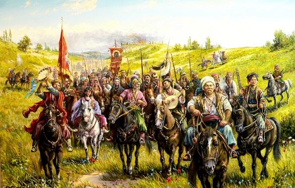 Picture art, Cossacks, Andrey Lyakh