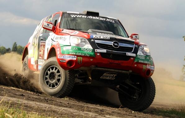 Picture Auto, Wheel, Sport, Machine, Turn, Logo, Skid, Day, Opel, Jeep, Lights, Rally, Dakar, Dakar, SUV, …