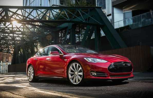 Picture Tesla, industrial, Model S, 2014