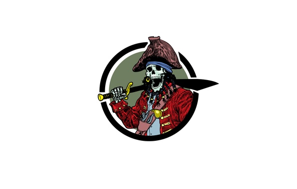 Picture style, weapons, skull, pirate