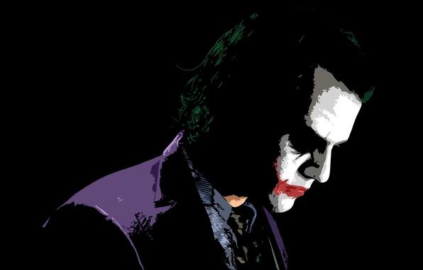 Picture Joker, the dark knight, Heath Ledger