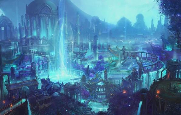 Wallpaper Legion Suramar Suramar World Of Warcraft Wow