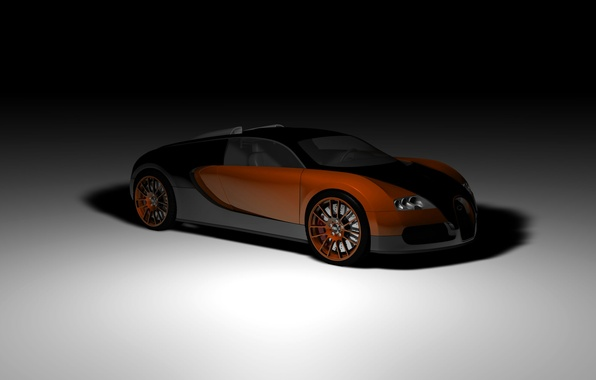 Picture rendering, coupe, veyron, supercar, bugatti, twilight