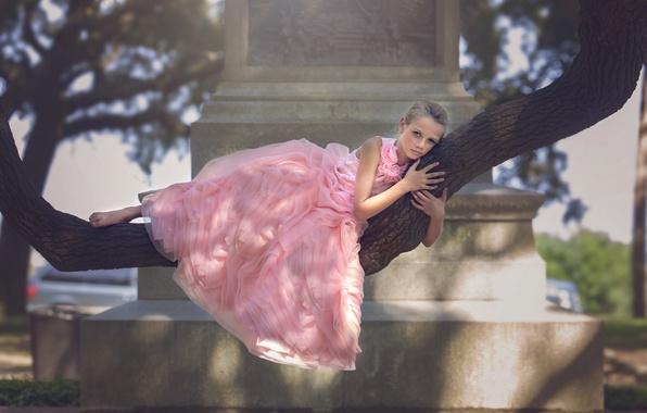Picture Park, tree, dress, girl, Battery Park, Julia Altork