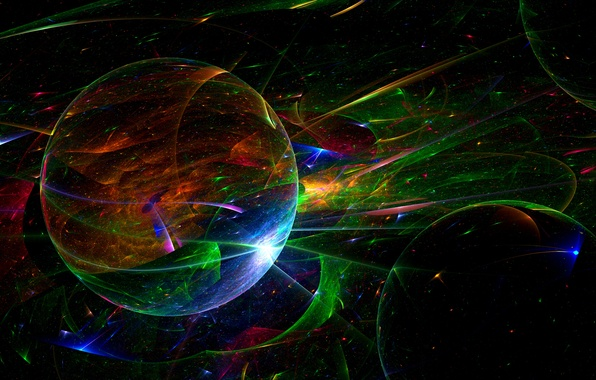Picture rays, light, line, color, ball, round, the volume