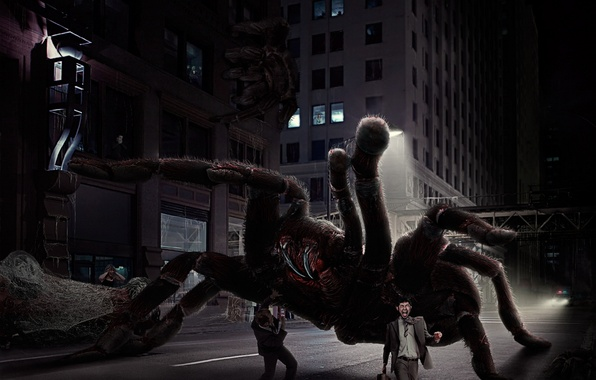 Picture the city, fear, monster, spider, horror