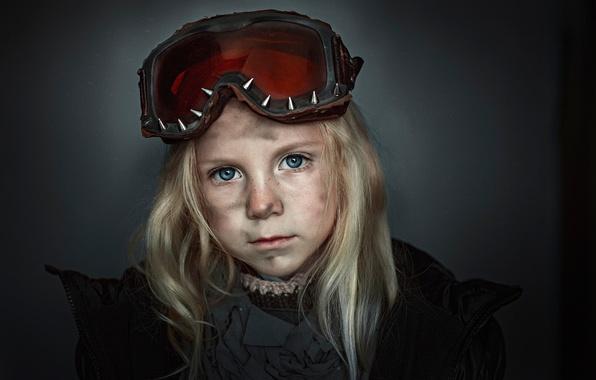 Picture portrait, glasses, girl, Field, grimy, George Chernyadev