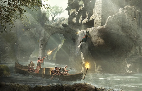 Picture boat, Ezio, assassin, Assassin's Creed, Revelations, guards, Ezio auditore da Firenze, the protagonist of the …