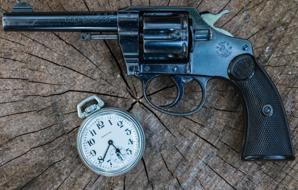 Picture weapons, watch, revolver, Police, Colt, 1906