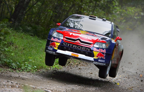 Picture Blue, Sport, Logo, Race, Citroen, WRC, Rally, Rally, In the air, The front