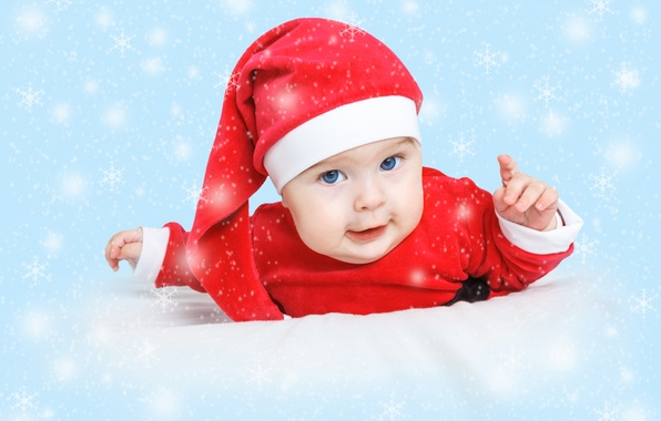 Picture holiday, New Year, Christmas, Christmas, New Year, child, baby, santa, baby santa