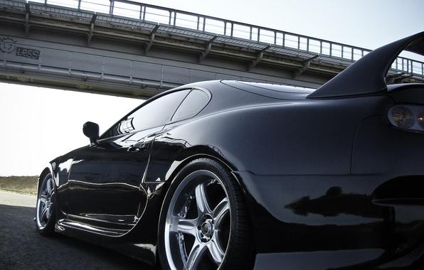 Picture machine, bridge, Toyota, Supra