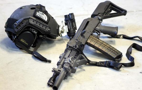 Picture weapons, machine, helmet, equipment., ak102, Haley Strategic