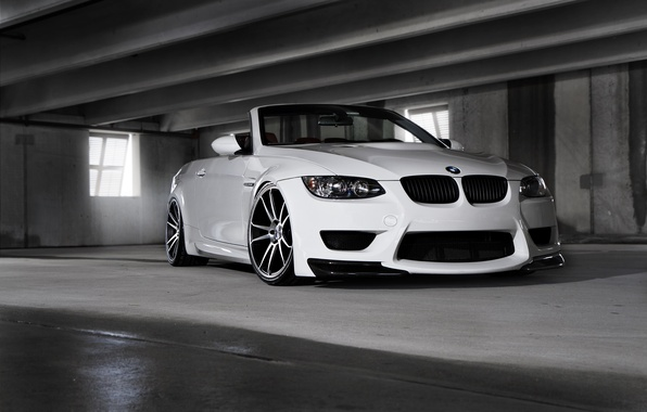 Picture white, tuning, BMW, BMW, white, tuning, E93