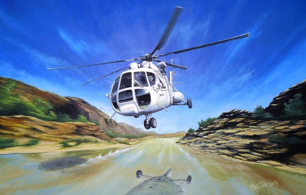 Picture art, helicopter, USSR, BBC, list, OKB, Russian, multipurpose, Mi-8, for, Soviet, is, the, the world, …