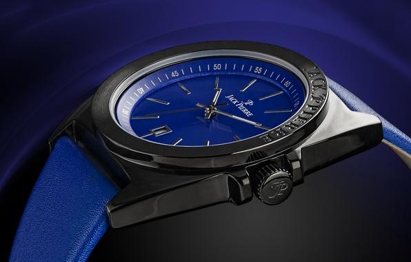 Picture metal, blue, watch, Jack Pierre