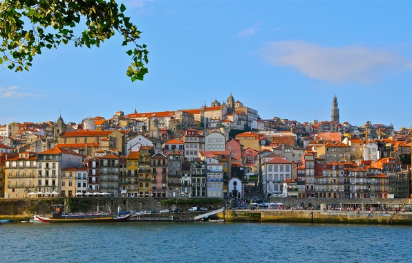 Picture river, building, Portugal, promenade, Portugal, Vila Nova de Gaia, Porto, Port, Vila Nova de Gaia, ...