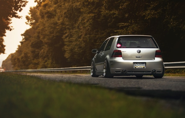 Wallpaper Grey Tuning Volkswagen Golf Golf Volkswagen Mk4 Images For Desktop Section