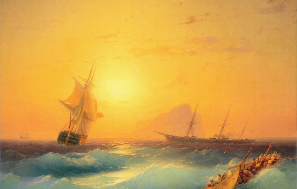 Picture sea, picture, painting, Aivazovsky