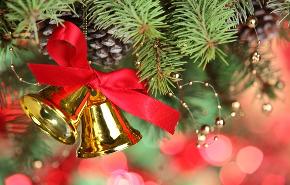 Picture decoration, tree, bow, bells