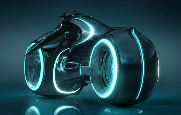 Picture neon, light cycle, tron legacy