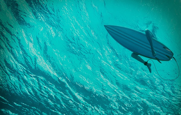 Picture girl, blue, the ocean, surfing, Board, Thriller, under water, horror, Blake Lively, Blake Lively, The …