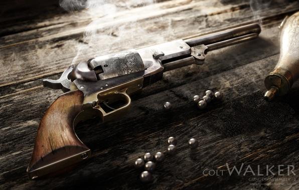 Picture rendering, weapons, revolver, Alexander Iartsev, Colt Walker, Colt Walker