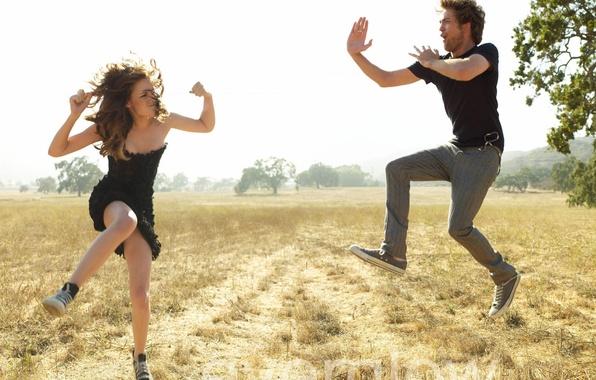 Picture Field, Wallpaper, Twilight, Kristen Stewart, Robert Pattinson, Fooling around, Saga, Edward, Bella