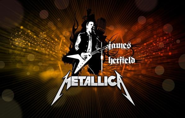 Picture metal, guitarist, rock, rock, metallica, electric guitar, Metallica, james hetfield