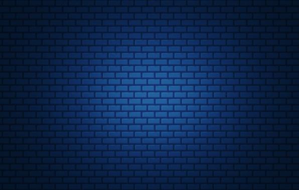 Picture blue, simple, brick, gradient, texture