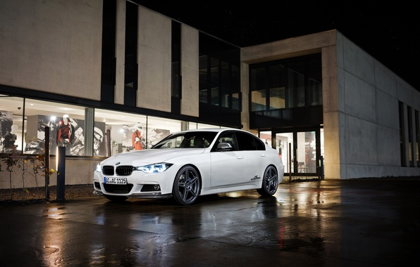 Picture white, BMW, BMW, sedan, F30, AC Schnitzer, 3-Series