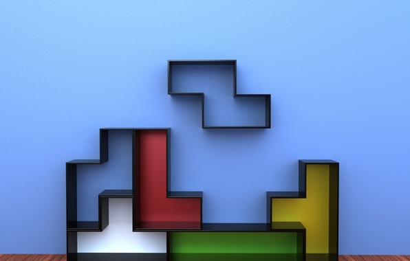 Photo Wallpaper Colors, Furniture, Decorative, Tetris