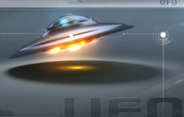 Picture space, UFO, plate, ufo