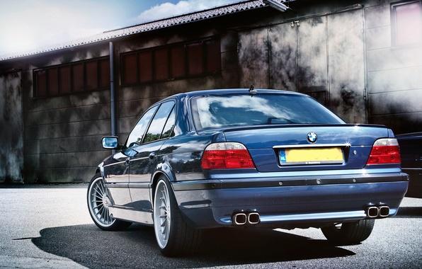 Picture tuning, BMW, drives, classic, blue, alpina, bmw e38, 750il