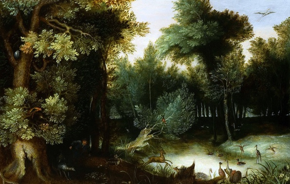 Picture picture, Jan Brueghel the elder, Forest Landscape with a Hunter