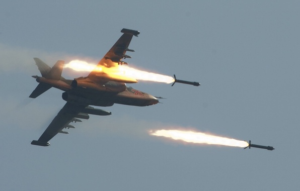 Picture missiles, attack, start, Rook, Su-25