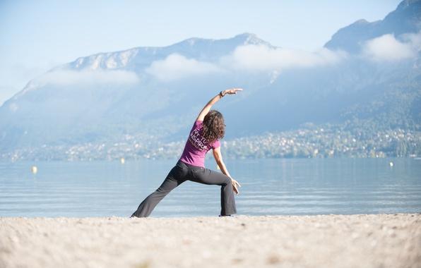 Picture beach, woman, yoga
