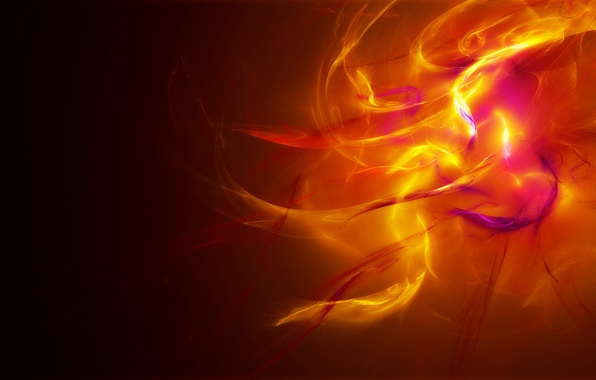 Picture light, orange, yellow, abstraction, fire, color, Krasny