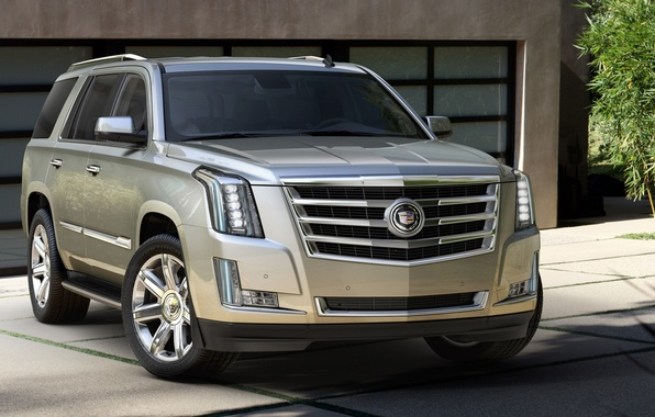 Picture house, background, Cadillac, jeep, SUV, Cadillac, Escalade, the front, Escalade