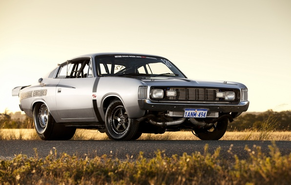 Picture muscle car, Chrysler, drag car, Chrysler Valiant Load RT