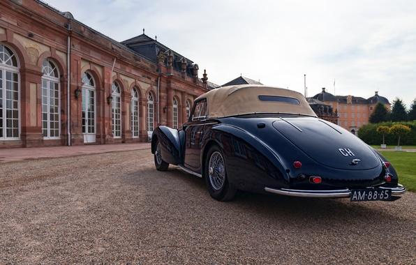 Picture retro, Germany, classic, Germany, Delahaye, Baden-Württemberg, Baden-Württemberg, Svetlansky Palace, 1946 Delahaye 135M Cabriolet, Schwetzingen Palace