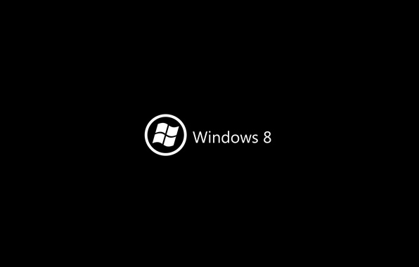 Picture background, black, logo, windows