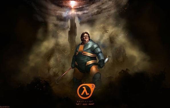 Picture half life, valve, Gabe Newell