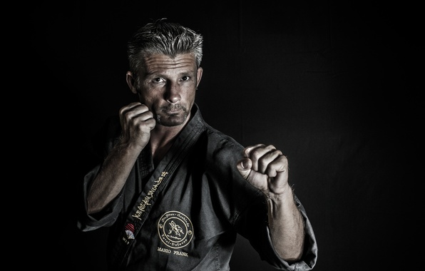Picture portrait, male, Fighter