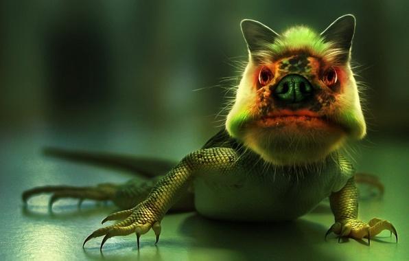 Picture green, monster, lizard