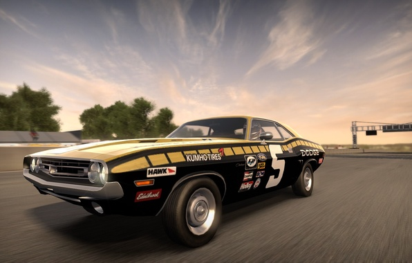 Picture race, track, Dodge Challenger, need for speed shift