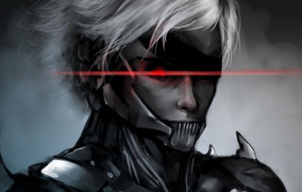 Picture eyes, art, headband, guy, MGS, Metal Gear Solid, Raiden, Rising